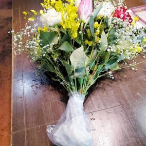 簡単花束の活け方-飾り方