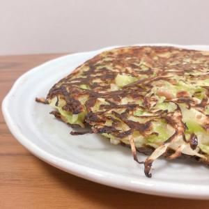 【簡単レシピ】【和食】低糖質お好み焼き【納豆】【キャベツ】