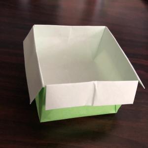 折り紙のゴミ箱★かわいい正方形の箱をカンタンに折る方法