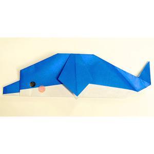 【いるかの折り紙】簡単な折り方♪幼児も大好きな動物イルカを作ろう