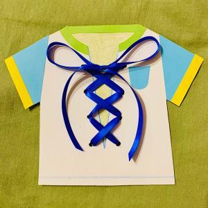 紐結びの練習に♪手作りの『シャツのおもちゃ』で靴紐もバッチリ!
