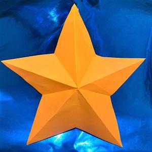 【折り紙の星】立体だと難しい?1枚の正方形から簡単にできる折り方