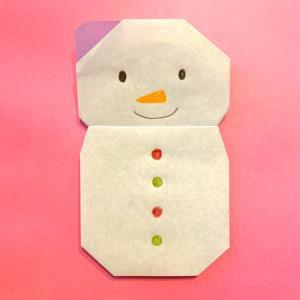 雪だるまの折り紙|簡単!子どもと作るかわいいクリスマス飾りの作り方