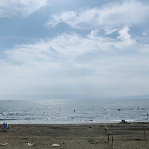 【湘南散歩】自粛による運動不足に!鵠沼海岸から片瀬西浜まで江の島の海を見ながらの散歩!【健康】