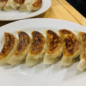 月曜のナイターの打上 夜は初訪問の餃子の銘店「餃子 玖」さん!