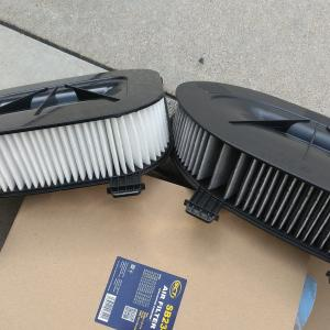BMW F25 X3 エアクリーナーフィルター交換