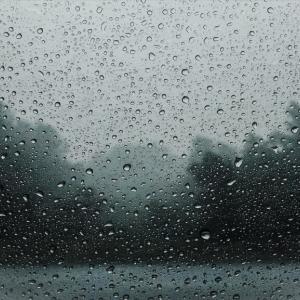 予想外の雨