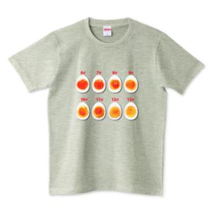 【便利】ゆで卵のゆで時間が一目でわかるTシャツ