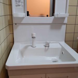 新しい洗面台
