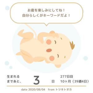 【妊娠10ヶ月/39w4d】迷信