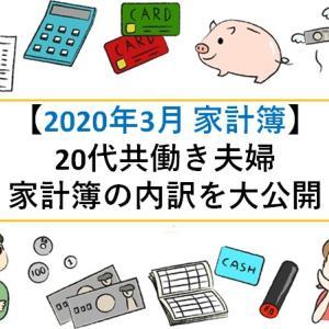 【2021年3月 家計簿】20代共働き夫婦の家計簿内訳を大公開