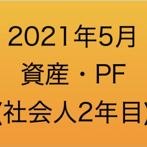 【資産管理】2021年5月の資産・ポートフォリオ(社会人2年目)
