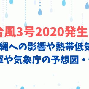 台風3号2020発生?沖縄への影響や熱帯低気圧の米軍や気象庁の予想図・情報も
