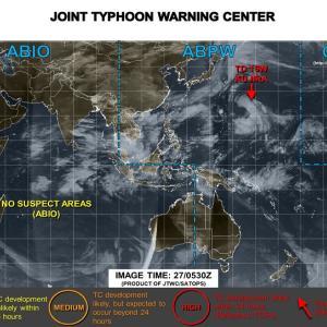 台風13号2020の最新進路情報!米軍や気象庁の情報と関東や東北・日本列島への影響は?