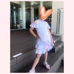 夏休み☆お出かけコーデ 〜メゾピアノ ユニコーンTシャツ&ミルキーウェイスカパン