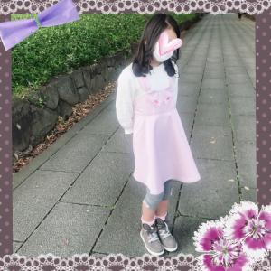休日コーデ☆メゾピアノ  ウサワンピース