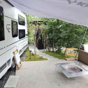 湖畔遊(2020.8)②キャンプの部屋 テラス・客室露天風呂編