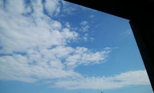 8月朔日の青空