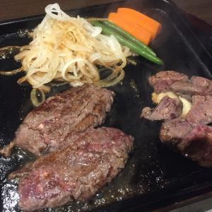 【レビュー記事】平家の郷 大塚店 霜降りバーグ&炭焼きカットステーキ