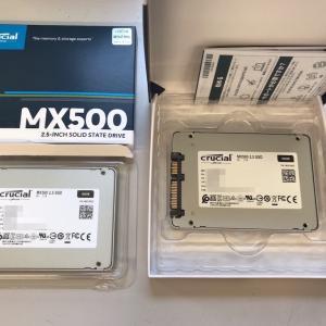 [2.5インチSSD]Crucial MX500のレビュー・ベンチマーク