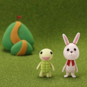 ウサギとカメの「そろタッチ」