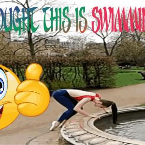 she thought this is swimming pool |||| funny fails