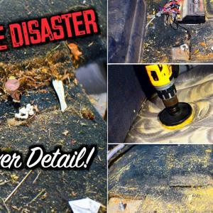 Chevy Silverado 2500HD First Time Detail | Complete DISASTER Interior Car Detailing Transformation!