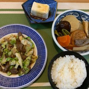7月17日の晩ごはん – 味付けジンギスカンを使った肉野菜炒め