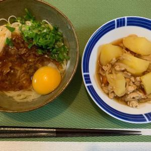 8月9日の晩ごはん – 牛肉と玉子のぶっかけ素麺