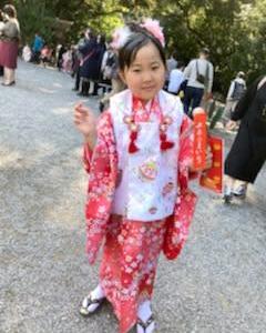 熱田神宮に七五三詣り