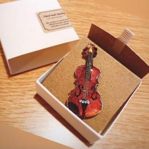0418バイオリンのキーホルダー