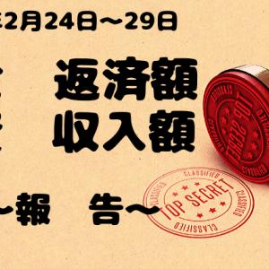 借金返済、副収入状況報告【R2.2月24日〜29日】