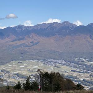 富士見パノラマリゾートと入笠山。