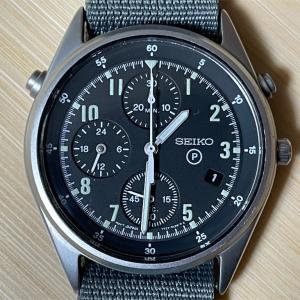 SEIKO 腕時計 ミリタリークロノグラフ