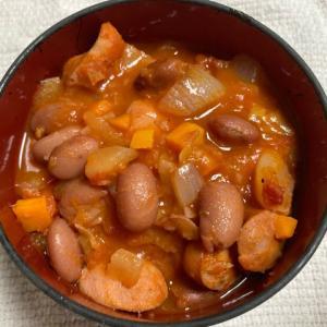 【ハワイの家庭料理】チョリソーで作るポルチギービーンズスープ