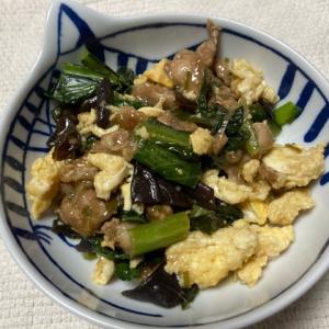 【山東料理】あっさり美味しい木須肉(きくらげと豚肉の卵炒め)