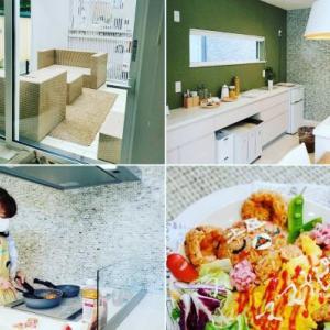 Zoomキャラ弁講座の様子と素敵なキッチンと素敵なおうち♡