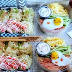 スヌーピー冷やし中華弁当♪☆麺弁当☆