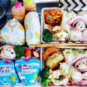 3種類のつけダレ☆スヌーピー麺弁当♪おにぎり弁当♪