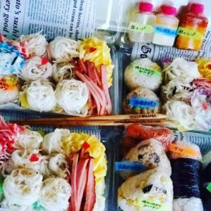 あちらこちらにスヌさんおにぎり&デコ☆北海道の美味しい食材おかず^^