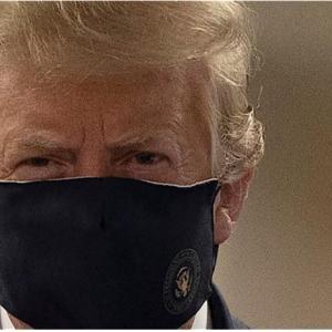 トランプ大統領  ついにマスクを着ける
