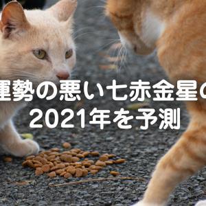 運勢の悪い七赤金星の2021年を予測