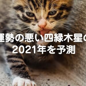 運勢の悪い四緑木星の2021年を予測