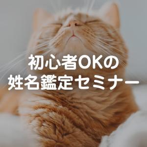 初心者OKの姓名鑑定セミナー10/19(火)or10/22(金)
