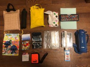 【写真あり】子供の修学旅行の荷物を容量58L(約60L)のかばんに詰めてみた