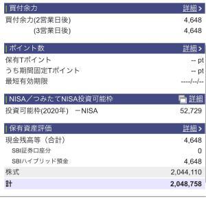 2020年10月21日 本日の評価額