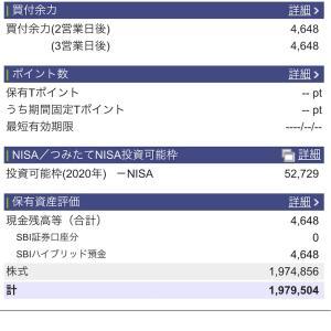 2020年10月22日 本日の評価額