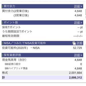 2020年10月26日 本日の評価額