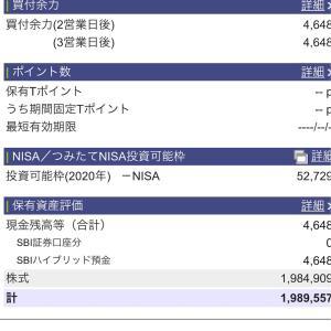 2020年10月27日 本日の評価額
