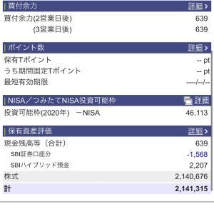 2020年11月24日 本日の評価額